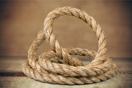 loose: Rope shipping. Stock Photo