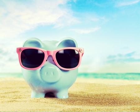 business money: Beach bank.