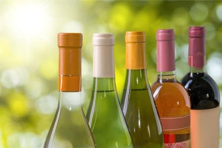 redwine: Wine Bottles. Stock Photo