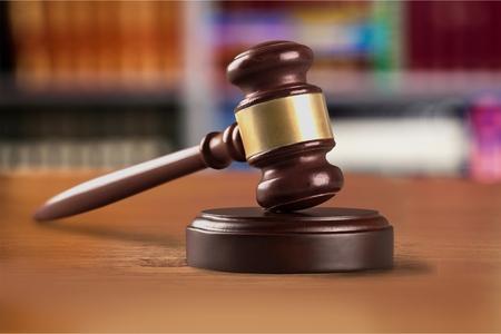 Law gavel. Stock Photo