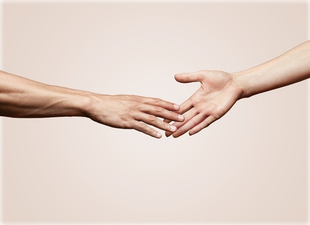 touching hands: A Helping Hand.