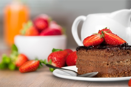 rebanada de pastel: Cake. Foto de archivo