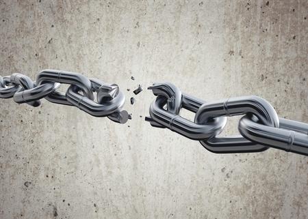 Fractura de cadena. Foto de archivo - 45436646