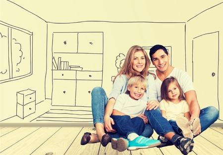 home furniture: New home. Stock Photo