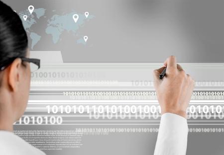 sourcecode: Computer Language. Stock Photo