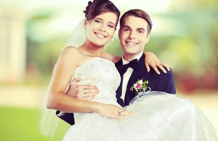 pareja de esposos: La boda.
