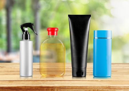 shampoo bottles: Shampoo Bottles. Stock Photo