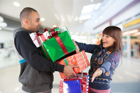 Christmas Shopping. Stock Photo