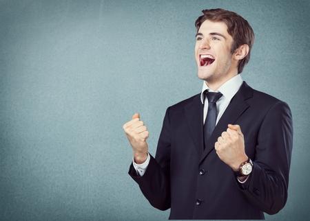 success man: Success. Stock Photo