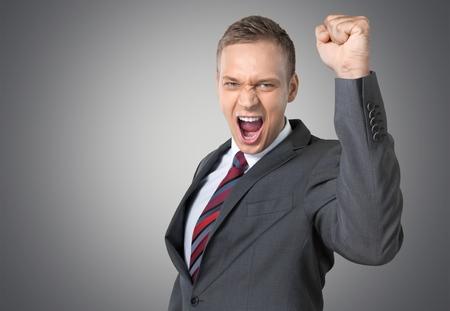 success man: Happy success man