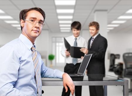 training business: Business Training. Stock Photo