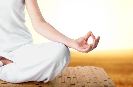 spirituality: Yoga. Stock Photo