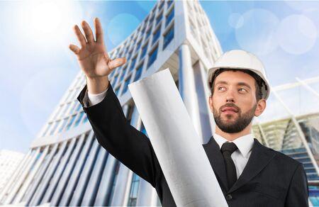 foremen: Engineer. Stock Photo