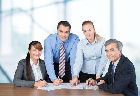 teamwork people: Business Meeting.