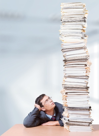 office physical pressure paper: Document Paperwork. Stock Photo