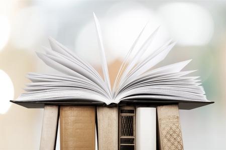 book binding: Open book. Stock Photo
