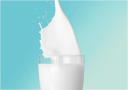 liquid splash: Milk. Stock Photo
