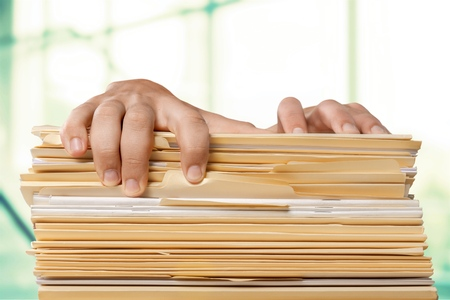 filing document: Paperwork.