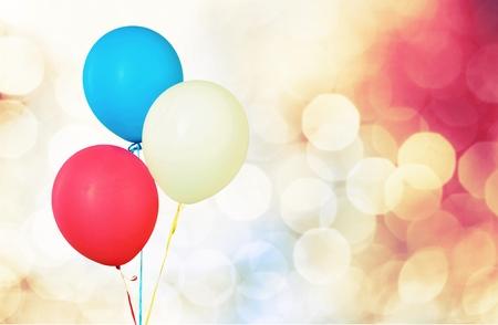 white party: Balloons.