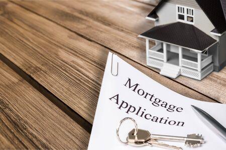escrow: House mortgage concept
