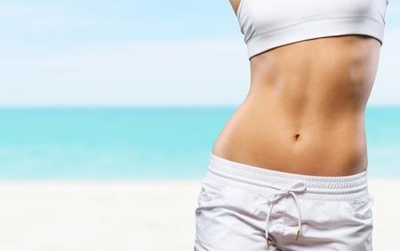 abdomens: Thin woman.