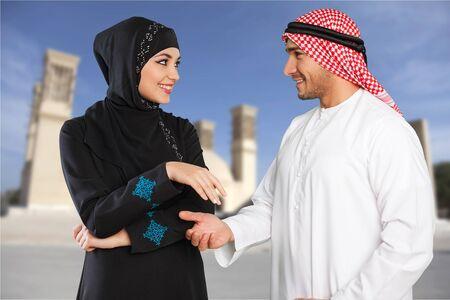 comedic: Adult arab people  Stock Photo