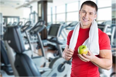man gym: Men Exercising.