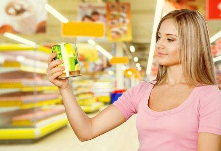 shopping binge: Supermarket. Stock Photo