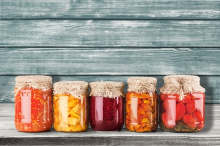 canned food: Canning. Stock Photo