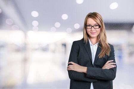 attitudes: Businesswoman. Stock Photo