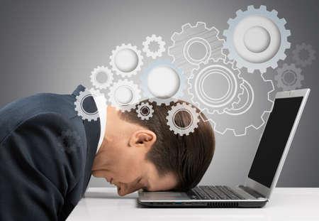 person computer: Stress. Stock Photo