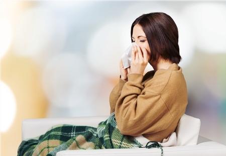 catarro: Fr�o y gripe. Foto de archivo