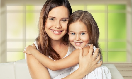 mom: Mom and child.