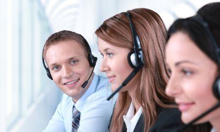 operator: Customer Service Representative. Stock Photo