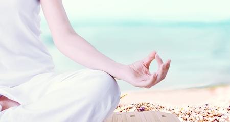vitality: Yoga. Stock Photo