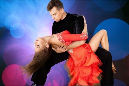 bailes de salsa: Bailar Salsa. Foto de archivo