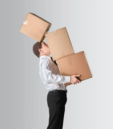overburdened: Boxes.