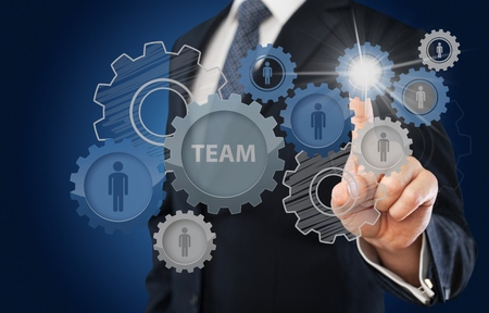 department head: Teamwork concept. Stock Photo