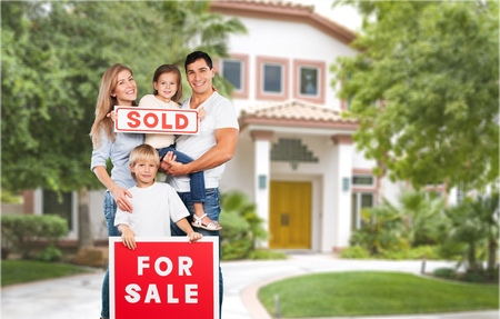 house for sale: House for sale. Stock Photo