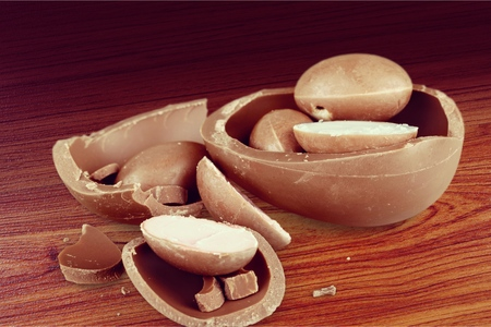 chocolate eggs: Chocolate eggs. Stock Photo