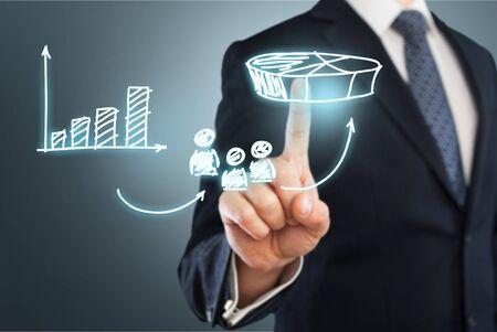 executives: Marketing. Stock Photo