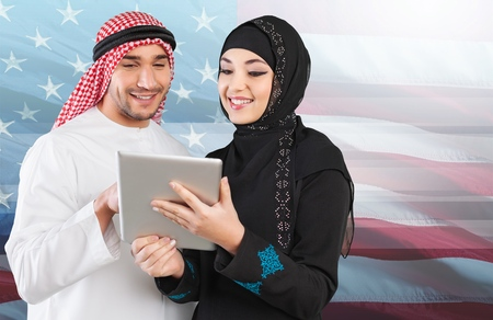 boy lady: Saudi. Stock Photo