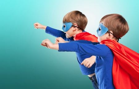 superheroes: Superheroes. Stock Photo