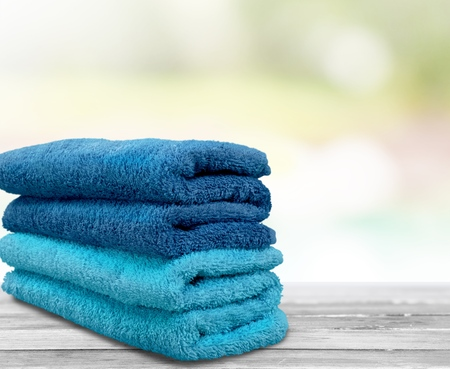 in towel: Towels. Stock Photo