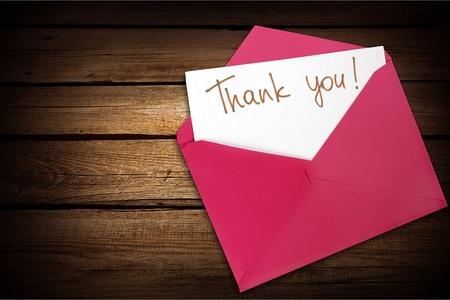 sobres de carta: Thank You. Foto de archivo