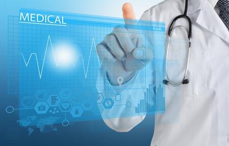 database: Medical apps. Stock Photo
