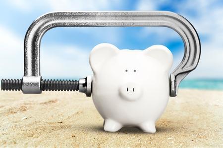 vise grip: Piggy Bank Recession.