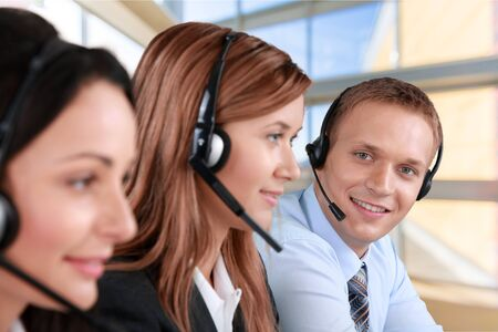 customer service: Customer Service Representative. Stock Photo