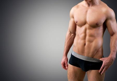 ropa interior: Músculo abdominal. Foto de archivo