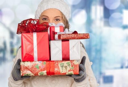 cintas  navide�as: Regalos de Navidad. Foto de archivo